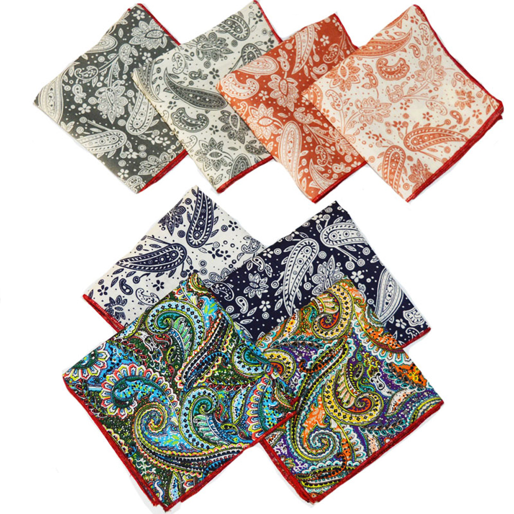 Mens Paisley Floral Handkerchief Hanky Party Wedding Formal Pocket Square