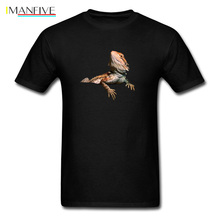 Bearded Dragon Lizard Print Men Black T-shirt Trendy 3D Animal Tops & Tees For Sale Halloween Awesome Gift T Shirts