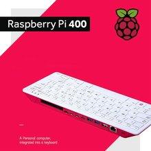 Raspberry pi 400 computador embutido em um teclado com o cartão oficial do rato sd adaptador de alimentação hdmi cabo opcional