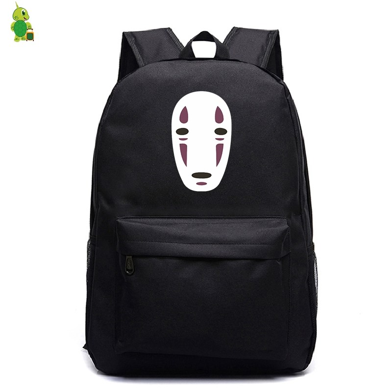 School Bags Ghibli Spirited Away No Face Man Backpack For Teenagers Women Men Laptop Backpack Kids Book Bags Casual Travel Bags