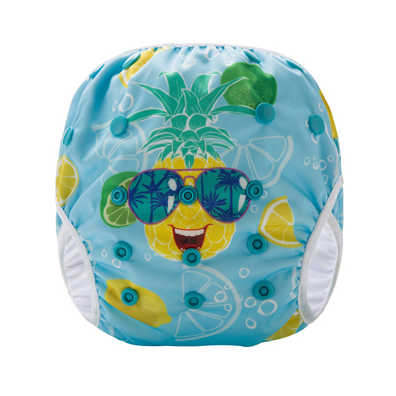 Hot Selling Washable Digital Printed Baby Swimming Diaper Pineapple Pattern SM-DY7