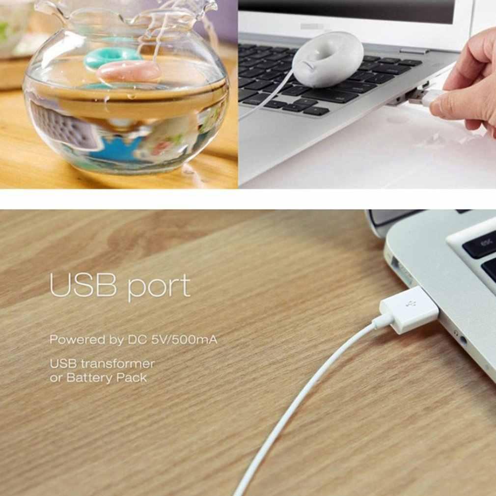 Mini Di Động Bánh Rán Ion âm Máy Phun Sương Tạo Độ Ẩm USB Máy Tạo Độ Ẩm Không Khí Máy Lọc Thơm Khuếch Tán Hơi Nước Cho Gia Đình