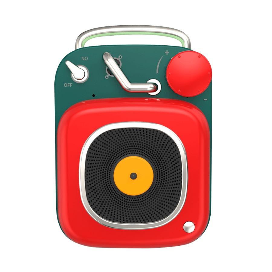 Briame Bluetooth Speaker Portable Outdoor Loudspeaker Wireless Mini Column 3D Stereo Music Surround Bluetooth Nostalgic Subwoofe(China)