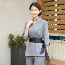 New beauty salon overalls SPA technician clothing suit female foot pedicure