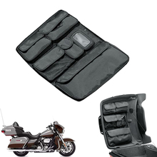 Motorcycle Travel Cap, Fitted Lining, Storage Pocket Organizer, Saddle, Tools, Bags for Harley Touring Street Glide
