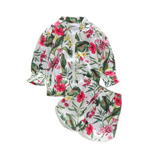 2pcs Newborn Toddler Baby Girl Floral Zipper Long Sleeve Sweater Tops Short Pants Outfits Set Tracksuit 1-5Y Beach Wear Clothes