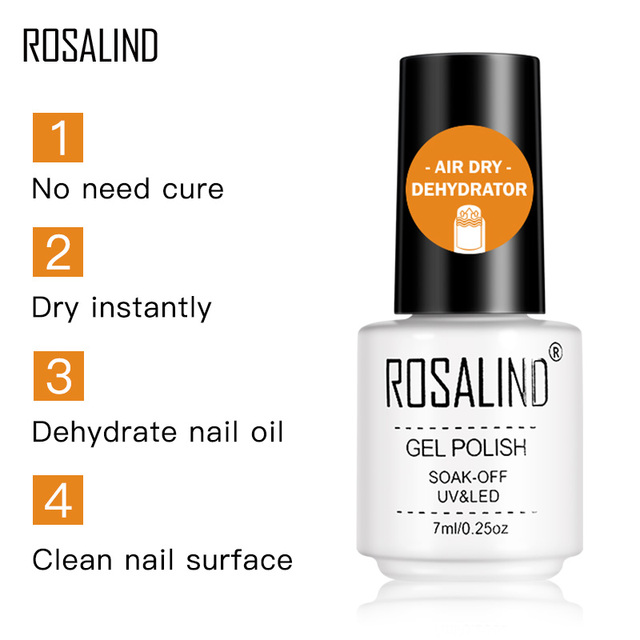 ROSALIND Base Top Primer Matt Gel Nail Polish Semi Permanent Nail Art Foundation Gel Reinforce No Wipe Gel Long Lasting Lacquer 1