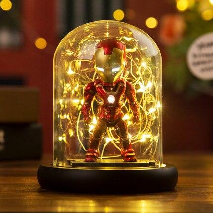 [Nouveau] 15cm les Avengers 4 Marvel héros fer homme figure modèle Action Figure éclairage salle décoration jouet bébé enfants meilleur cadeau