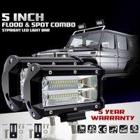 2 pces 5 polegada 72 w 6500 k conduziu a luz de trabalho para conduzir a lâmpada nevoeiro offroad caminhão suv|Luzes embutidas de LED| |  -