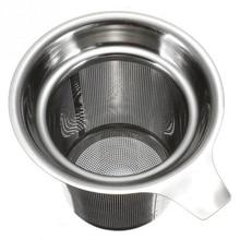 Чай сетка для заварки Фильтр для чая для повторного использования Чай горшок Нержавеющая сталь свободные Чай Leaf специй фильтр Питьевая Посуда Кухня аксессуары