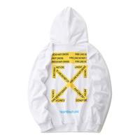 Off 18ss Cordon Hoodie Popular Brand Men's Sweatshirts & Hoodies Ow Coat High Street Fashion Couple Clothes White