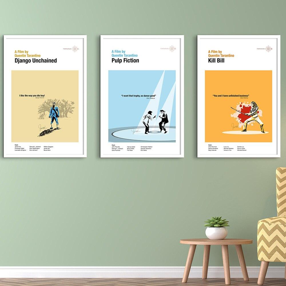 Постер криминальной художественной печати, классический фильм, Джек, кролик, танцевальный постер, минималистичное настенное искусство, Картина на холсте, Настенная картина, домашний декор