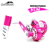 CAMEKOON Conventional Saltwater Trolling Fishing Coil Left/right hand Max Drag 32kg 9+2BBs Gear Ratio 6.3:1 Slow Jigging Reel