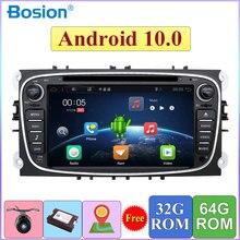 DSP 2 Din Android 10 samochodowy odtwarzacz multimedialny GPS Navi dla Ford Focus 2 Mondeo Galaxy s max Wifi Audio Radio Stereo 4G + 64G