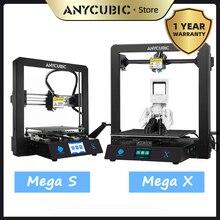 3D принтер ANYCUBIC Mega S/ X /Zero/Pro, полностью металлическая рама, Настольная 3D печать, высокая точность печати