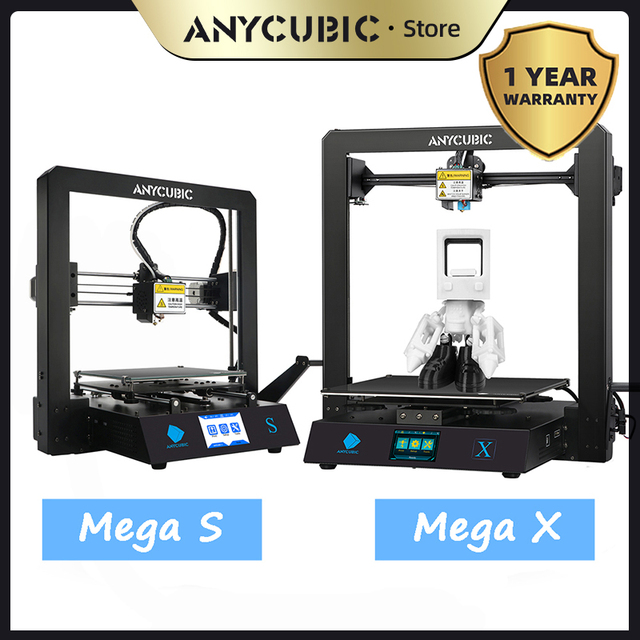 ANYCUBIC Mega S/ X /Zero/Pro 3d Printer Full Metal Frame Plus Size Desktop 3d drucker High Precision stampante 3d impresora 3d