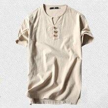 T camisas masculinas plus size 5xl 6xl 8xl 9xl grande grande tamanho t camisa de linho de manga curta camisa masculina de verão