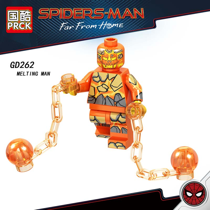 Single Sale Compatible LegoINGlys Super Heroes Spider-Man 2 Far From Home Melting Man Hydro-man Mysterio Figure Blocks Toys GifT