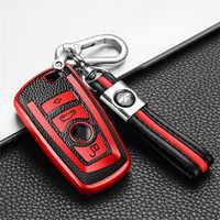 Carcasa de fibra de carbono para coche, carcasa para llave, accesorios, para Bmw 1, 3, 4, 5, 6, 7 Series, F10, F20, F30, E90, G30, E60, E46