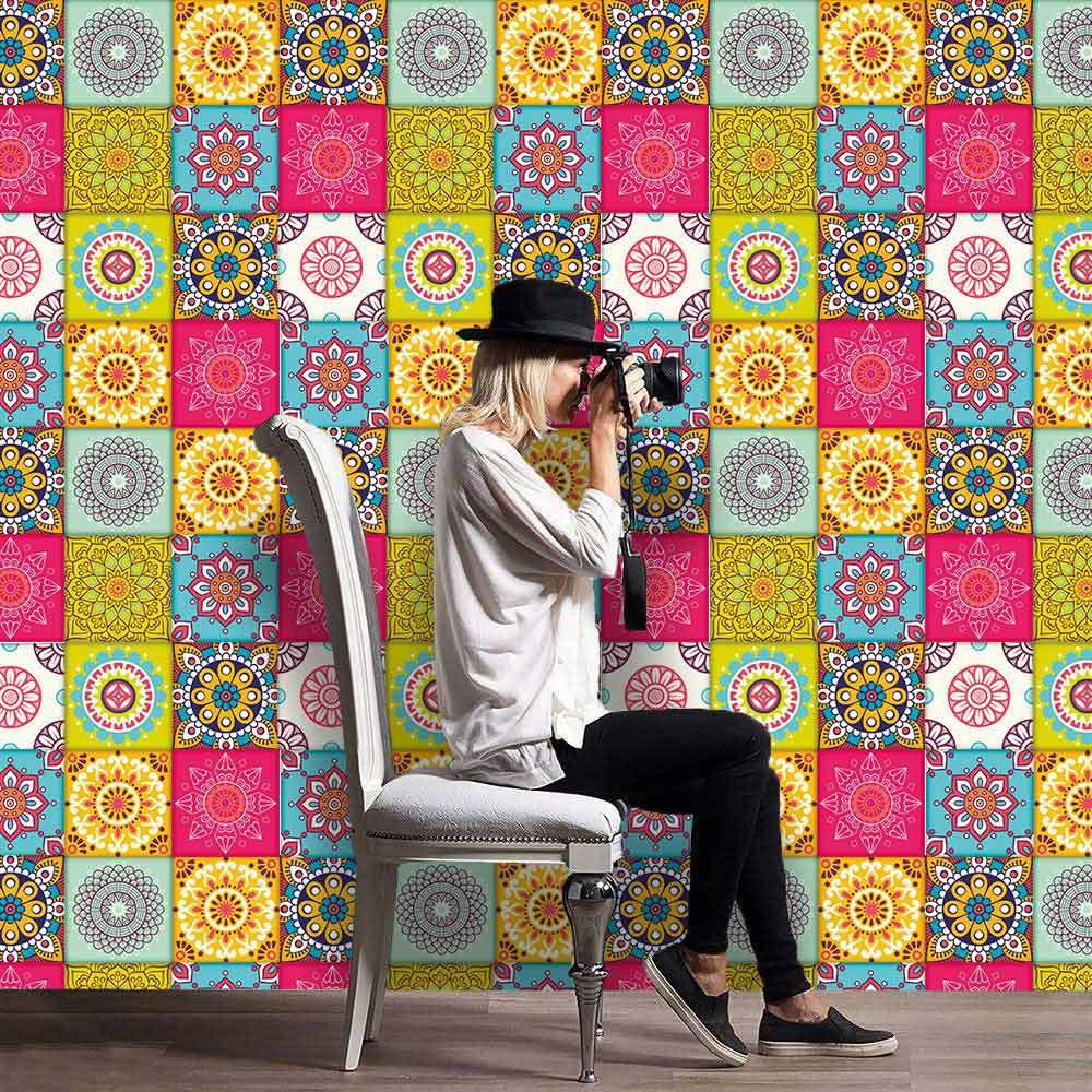 1 шт. 16 видов, европейские классические водонепроницаемые плитки для украшения дома, самодельные сращивающиеся креативные наклейки на стен...