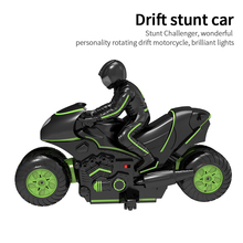 Car-Toy Rc Motorbike Remote-Control Stunt Crawler Vehicle-Rotating Rock Double-Sided