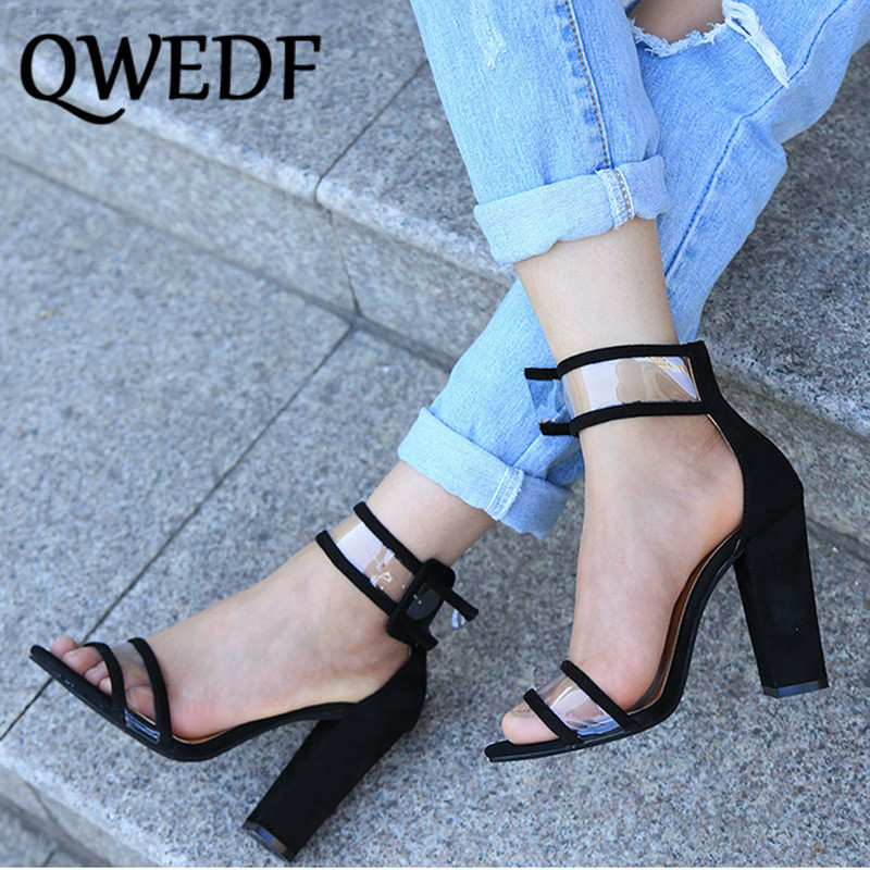 QWEDF Woman Pumps Shoes High Heels T-stage Sexy Dancing Party Wedding Ladies Shoes European And American Popular Big Code AH-11