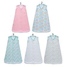 Cotton Sleeveless Baby Sleeping Bag for 3-12 Months Newborn Wearable Blanket Soft Nursery Bedding for Child Boys Girls