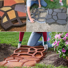 DIY Garden Path Concrete Mould Cement Patio Molds Paving Pla