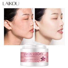 LAIKOU Sakura Face Cream Hyaluronic Acid Essence Facial Cream Moisturizing Anti-Aging Whitening Nourishing Serum Skin Care 25g
