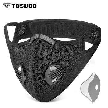 TOSUOD masque Anti-poussière Anti-pollution avec filtre masque charbon actif PM 2.5 vélo de route sport cyclisme masque filtre visage