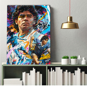 Diego Maradona Football Poster Canvas Comics Printed sports Decoration Painting Home Wall Living Study Room Child Room Bedroom 3