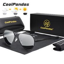 Coolpandas 2021 модные солнцезащитные очки пилота поляризационные