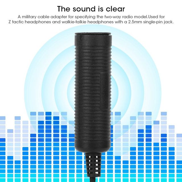 Accessoires pour baofeng talkie VOX PTT câble adaptateur militaire 2.5mm prise simple broche pour Motorola Talkabout Radio TLKR T6 T80