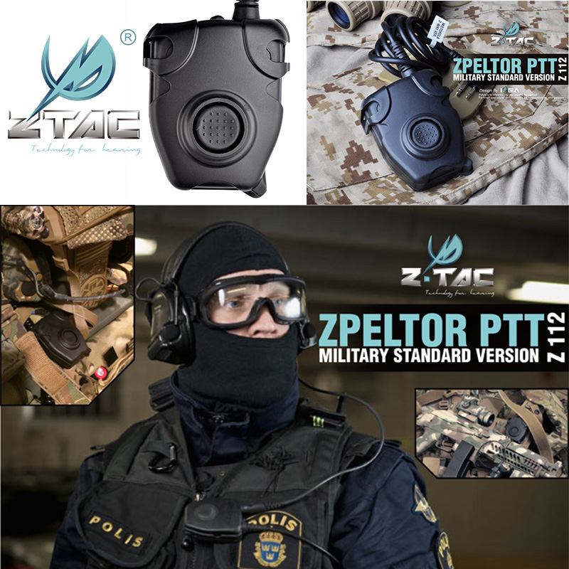 Z-TAC Set Sale Tactical zPeltor Headset with Kenwood PTT and Baofeng Radio
