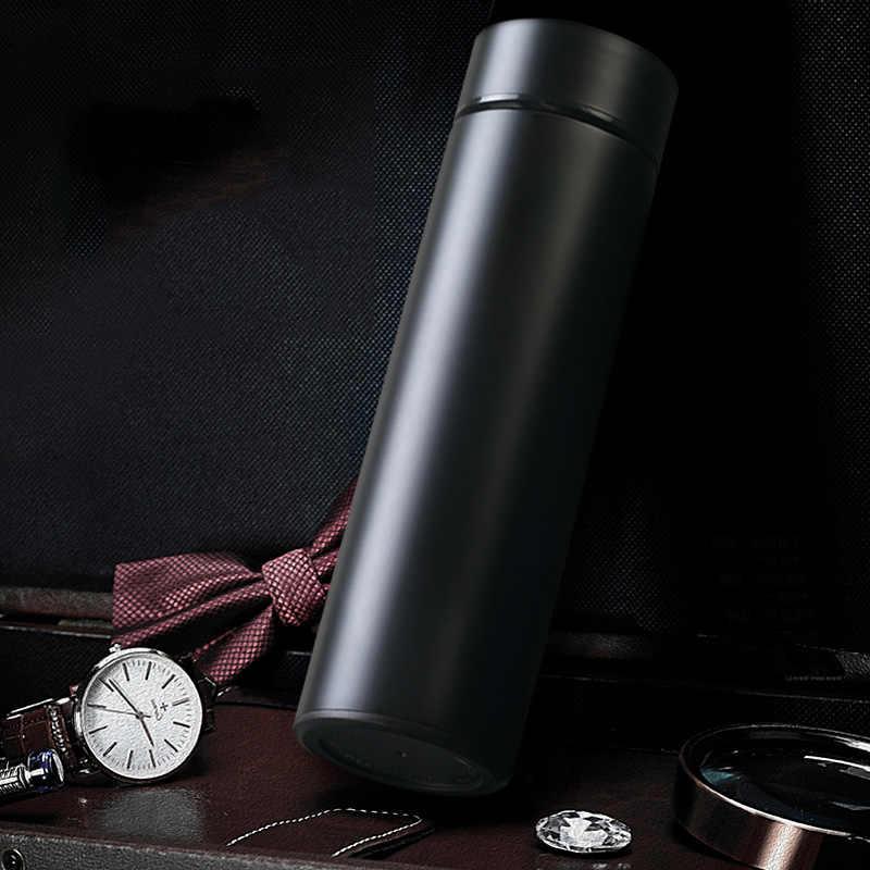 Medição de Temperatura inteligente Copo de Isolamento Térmico Feminino e Masculino Xícara de Água Copo Criativo Xícara de Café de Aço Inoxidável