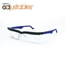 Adlens Focus regulowane okulary do czytania okulary dla krótkowzrocznych 4D do + 5D dioptrii powiększające o zmiennej wytrzymałości