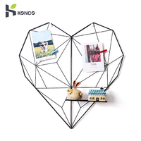 Konco ins casa decoração ferro em forma de coração rack de armazenamento nordic grade foto parede casa foto adereços quarto diy decoração|Prateleiras decorativas| |  -