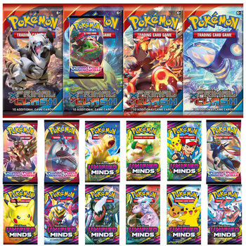 360pcs Pokemon card TCG: Sun & Moon Unified Minds Trading Card Game A Box of 36 Bags Collection 2