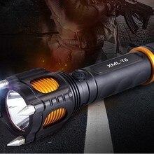 Светящийся Xml-t6 яркий фонарик многофункциональный фонарик Ringtone сигнализация T6 фонарик
