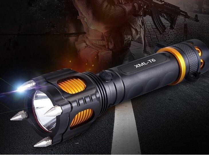 Glow-out New Xml-t6 Strong Light Flashlight Multifunction Flashlight Ringtone Alarm T6 Flashlight