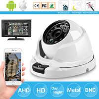 Caméra CCTV Surveillance sécurité 24 tableau IR 2000TVL IP67 HD AHD 1080P 4MP caméra grand Angle dôme métal anti-vandalisme