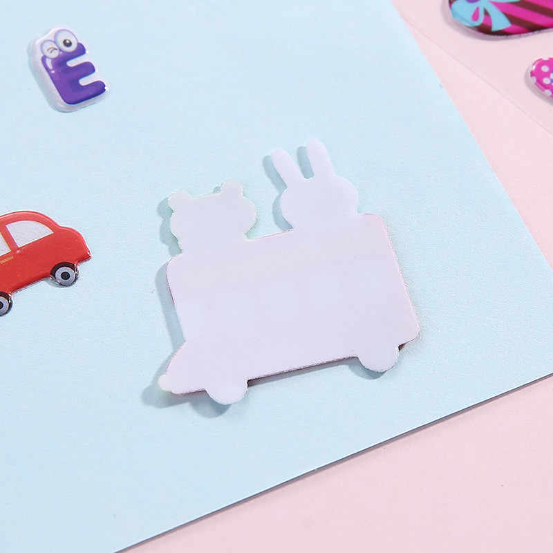 1 Pza pegatinas de burbujas 3D animales de dibujos animados a prueba de agua DIY juguetes para bebés pegatinas lindas suministros de arte pegatinas escamas para niños niño niña