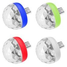 Lamps Light Disco Magic-Ball Music-Control Mini-Usb Colorful Cellphone DJ Xmas Crystal