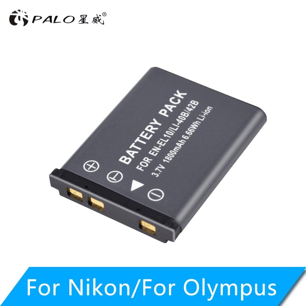 Аккумулятор для цифровой камеры Olympus Nikon Fujifilm Kodak, 3,7 в, 1800 мАч