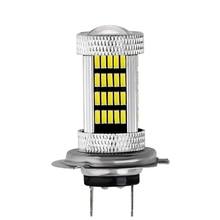 1 sztuk DC 12V H1 H3 H4 H7 H8 H11 9005 9006 4014 92 LED 6000K projektor samochodowy żarówka do lampy przeciwmgielnej biały źródło światła samochodu