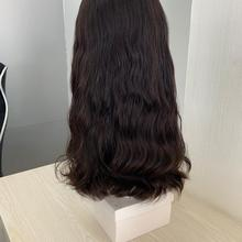 Ленточный осенний парик, один стиль, 20 дюймов, необработанные волосы, вьющиеся или слегка волнистые, еврейские парики