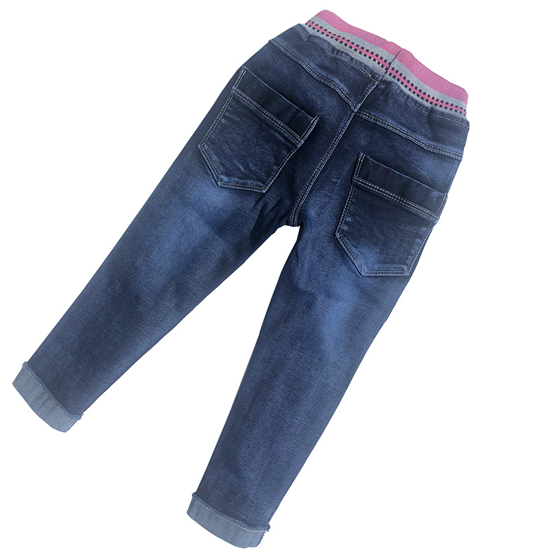Peacolate 4-8T Infant Little Kids Girls Embroidery Jeans Denim Pants