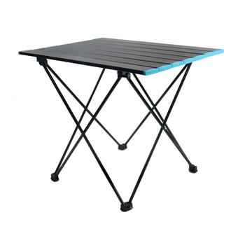 Przenośne stoliki kempingowe z stół aluminiowy Top twardy składany stół w torbie na piknik obóz plaża łódź tanie i dobre opinie CN (pochodzenie) Metal Z aluminium Nowoczesna i minimalistyczna Montaż Rectangle Stół ogrodowy meble zewnętrzne Nowoczesne