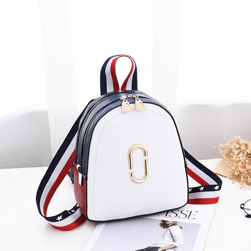 2019 NEW Small Backpack PU Patchwork USA American Women Backpack Designer Backpacks Women High Quality Mini Backpack