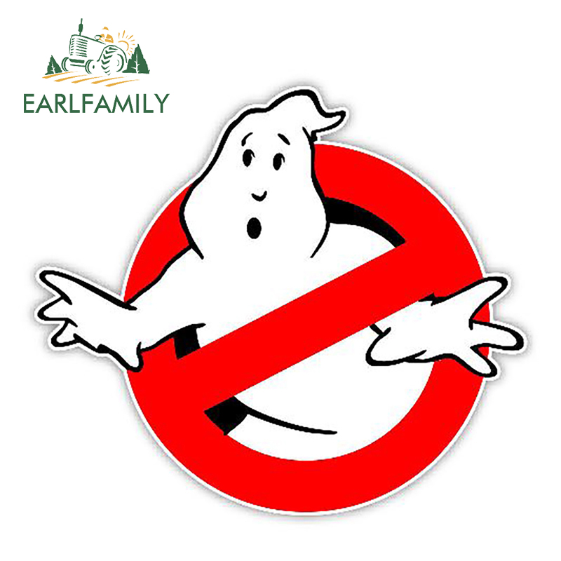 EARLFAMILY 13cm X 11.3cm Car Stickers Ghostbusters Decal Funny Car Styling Cartoon Sticker Waterproof Auto Motor Decor Graphics